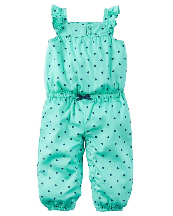 Baby Girl Polka Dot Jumpsuit | Carters.com
