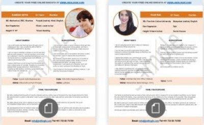 Samples of Marriage Biodata Format