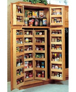 """storage system for a 36"""" wide pantry cabinet."""