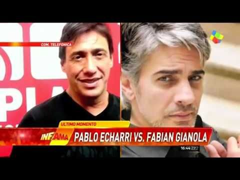 Fabián Gianola le contestó a Pablo Echarri en Infama