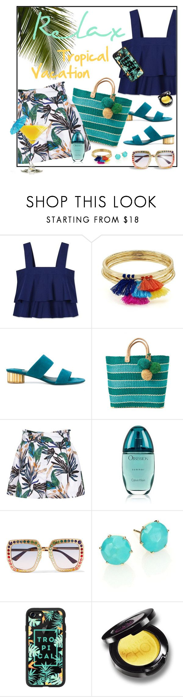 """""""Maldives..."""" by ladychatterley ❤ liked on Polyvore featuring Tory Burch, Aqua, Salvatore Ferragamo, Reiss, TIKI, Gucci, Ippolita, Casetify, ToryBurch and shorts"""