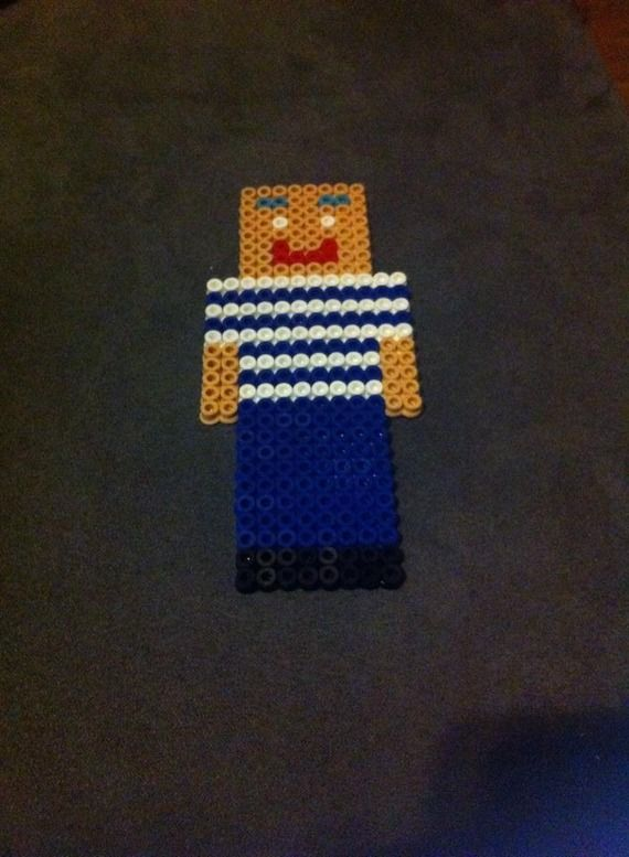 Jaffa Cake Pixel Art : Poire verte kawaii perles hama Minecraft, Perles et Lol