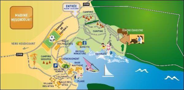 Kaart Lac de madine
