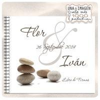 Libro Firmas Boda Zen