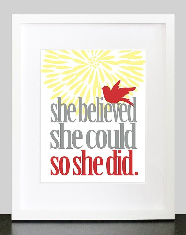 She Believed She Could So She Did Wall Art by mateoandtobias