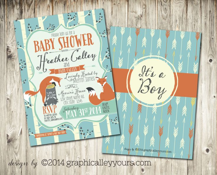 Indie Forest Theme BABY SHOWER Invitation  by GraphicalleyYours, $15.00