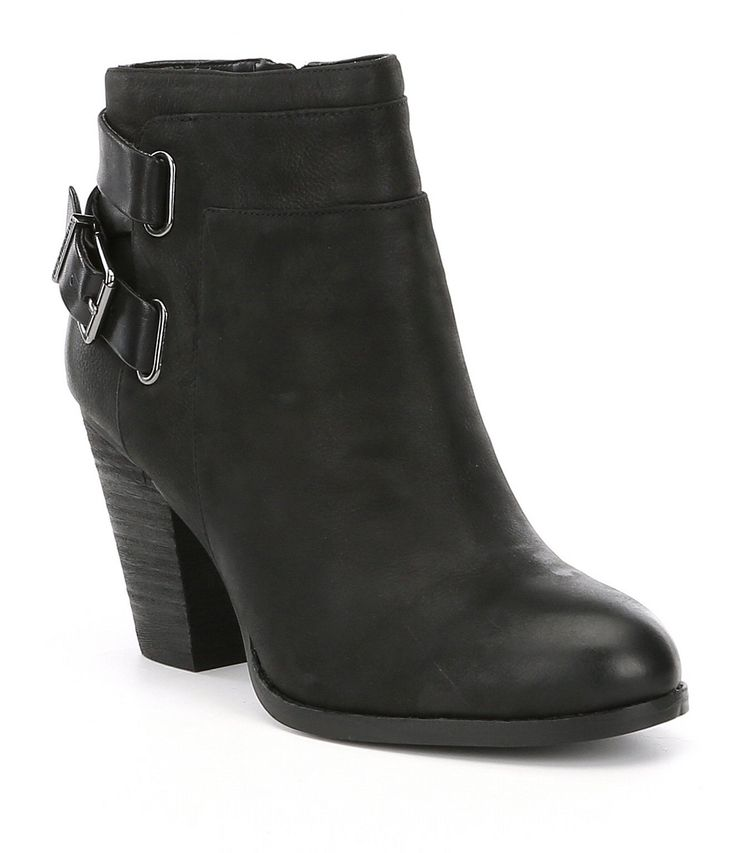 Gianni Bini Dayvis Leather Belted Booties #Dillards