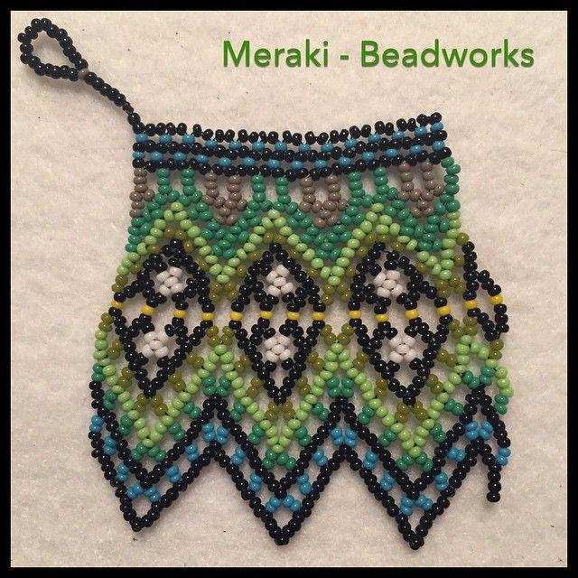"6 Likes, 1 Comments - Meraki (@meraki_beadworks) on Instagram: ""In process .... Meraki _ Necklace. Beadworks - Hamburg, Germany. Ethnic inspiration. #beadworks…"""