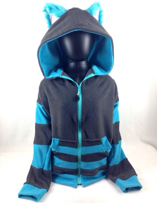 This Cheshire Cat Costume Hoodie Comes Complete With Furry Ears
