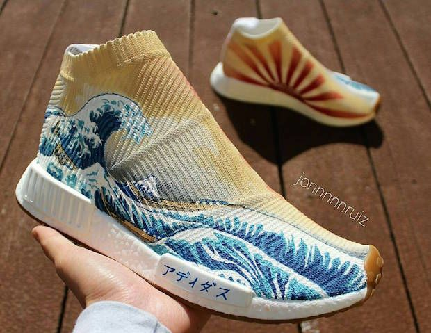 Great Wave Off Kanagawa Adidas NMD Custom by Jon Ruiz