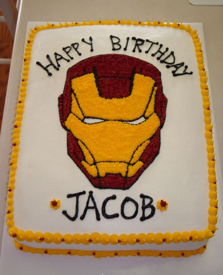 Ironman Basic Cake Cakes Pinterest Cakes And Galleries