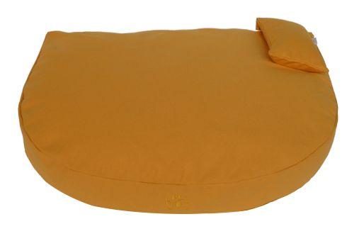 Organic Dog Bed ochre / Bio Hundebett ocker  (cover made of 100% organic cotton, filled with natural latex flakes & kapok)