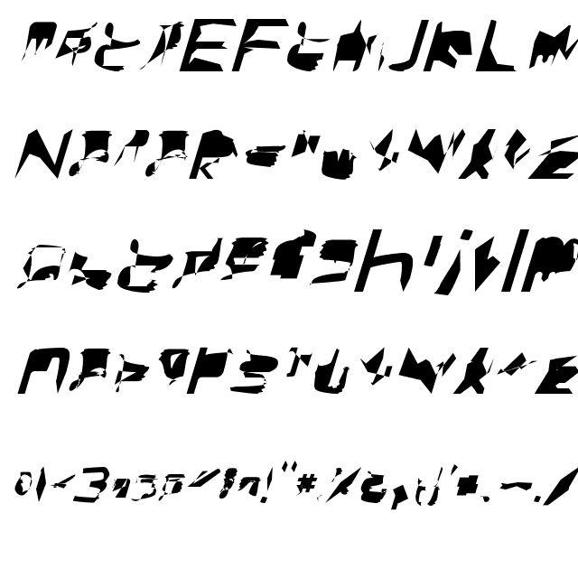 bitstorm extended oblique Font