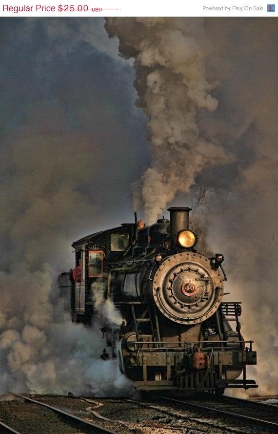 ON SALE Steam Engine  Fine Art Photograph by JoshFriedmanPhoto