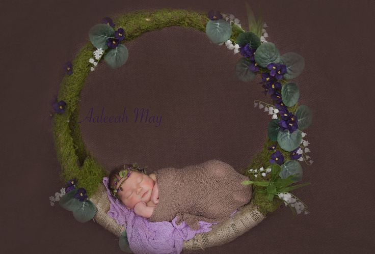 My newborn moss hoop photography prop x