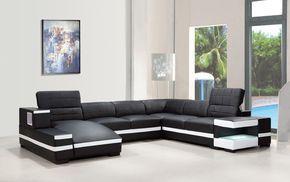 Divani Casa 1201 - Modern Bonded Leather Sectional Sofa - ModLivingDecor.Com