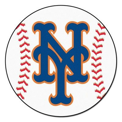 MLB New York Mets Baseball Mat 27 Diameter