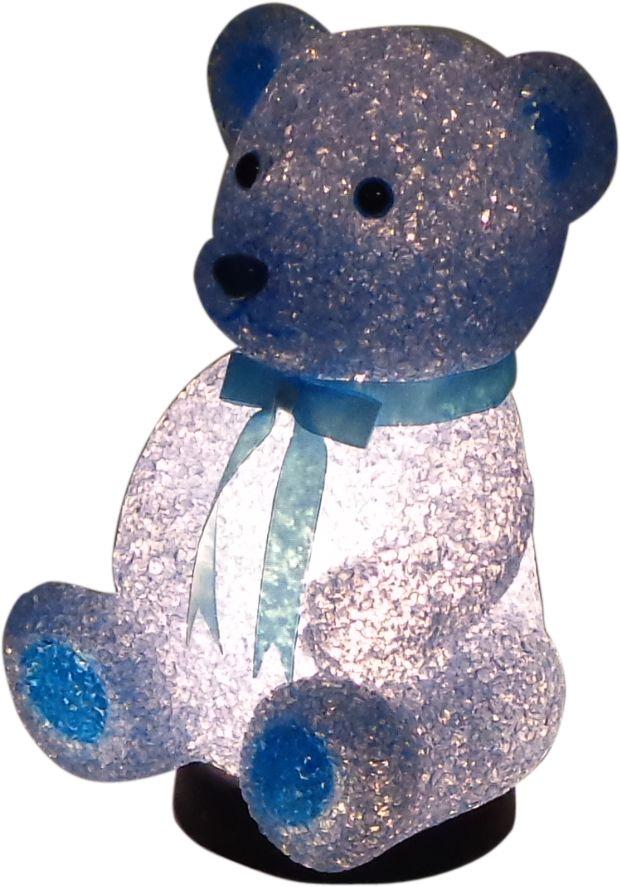 Teddy Bear Lamp - Childrens Bedroom Nursery Night Light - Pink or Blue