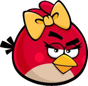 Красная птица-девочка | Angry Birds Wiki | Красная птица-девочка — неиграбельный персонаж. Возможная cупруга или невеста Реда, на которого она сильно похожа, но, в отличие от него, на ней завязан жёлтый бант, она имеет ресницы, румянец и более короткие и тонкие брови.
