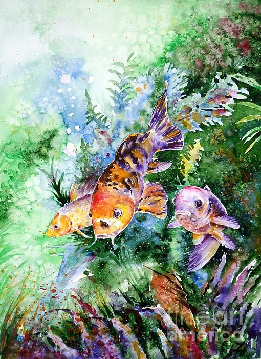 22 best images about fish paintings by zaira dzhaubaeva on for Fish tank paint