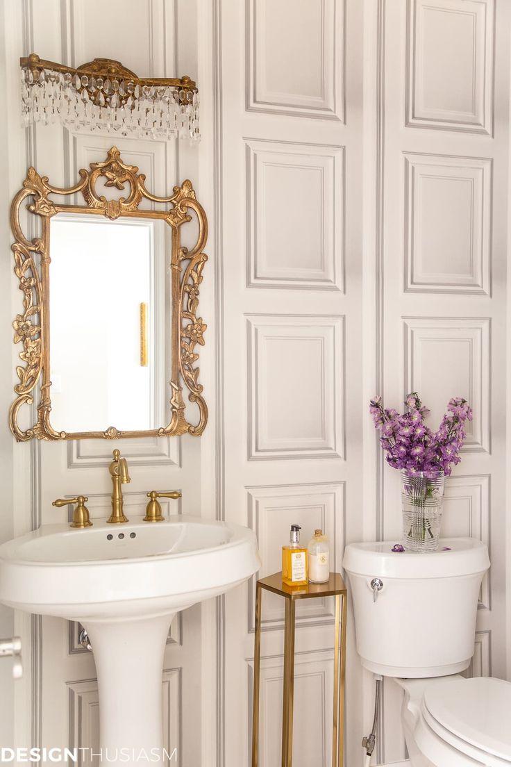 Powder Room Ideas: Elegant Powder Room Makeover on a Budget