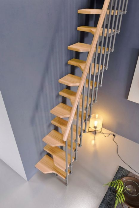 Best Gamia Mini Space Saving Stair Kit Silver Grey Metalwork 400 x 300