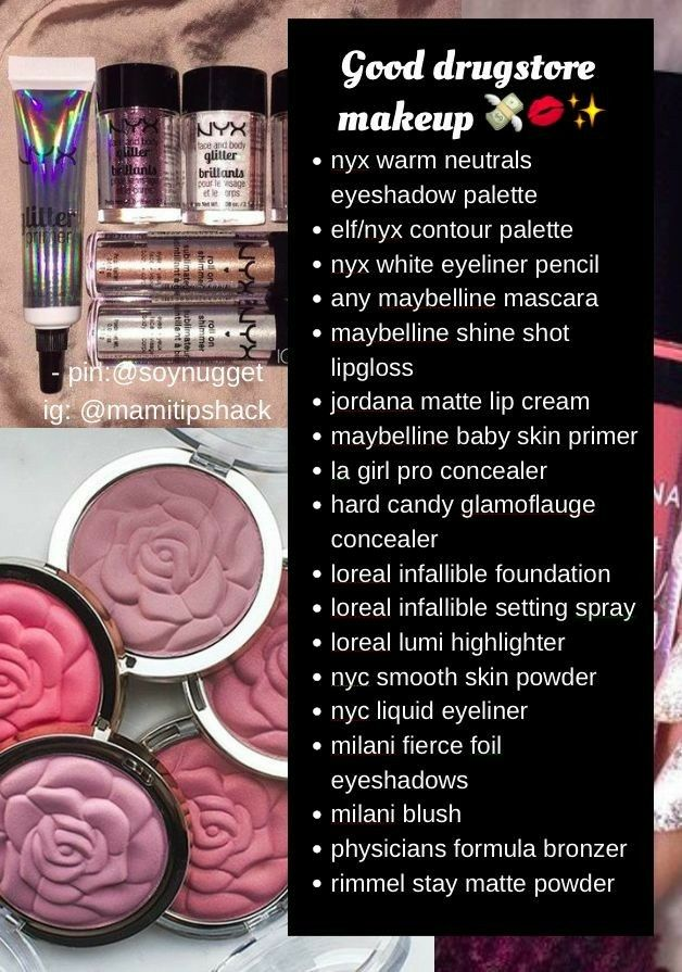 In case of emergency-Drugstore makeup list
