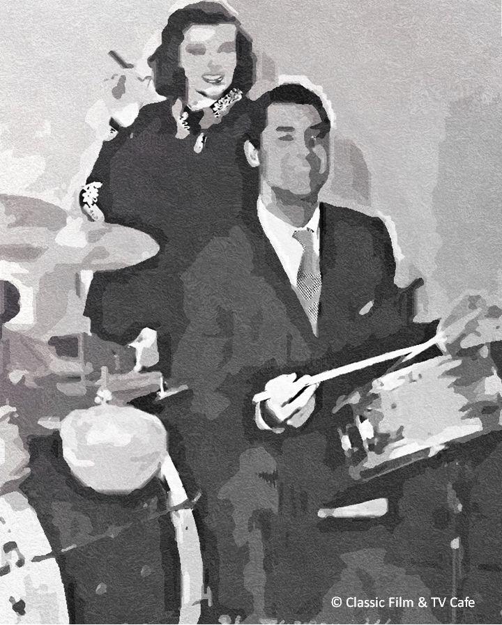 Katharine Hepburn and Cary Grant in HOLIDAY.