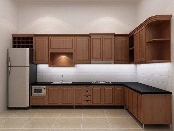 Muebles de cocina modernos con mesadas negras ...