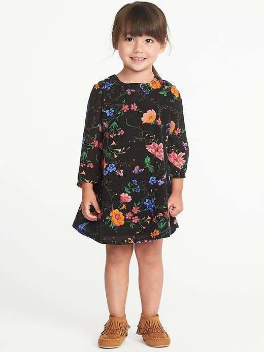 c665aaa07 Old Navy Floral Bell-Sleeve Dress for Toddler Girls | Products ...