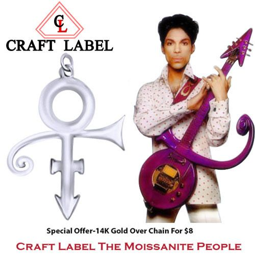 PRINCE Singer Artist Peace Symbol UNISEX Pendant - Death Anniversary 21st April. Starting at $1