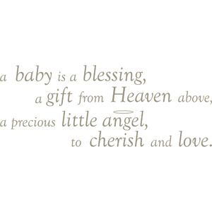 WallPops Baby is a Blessing Wall Wishes Decal Set