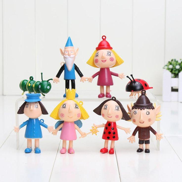 anime 8Pcs/Set Kids Toy Little Kingdom Christmas toy Golden Ben and Holly Anime PVC Action Figures Toy children gift