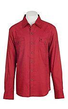 Garth Brooks Sevens by Cinch Men's Red Jacquard Paisley Print Long Sleeve Western Snap Shirt
