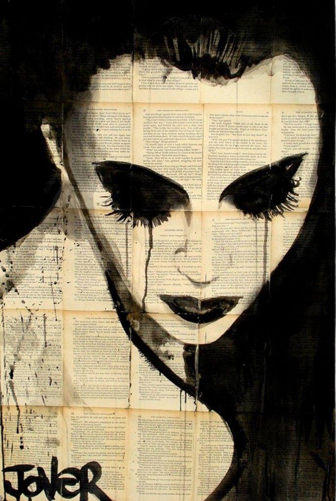 Loui Jover -Ink Drawings On Newspaper #artpeople