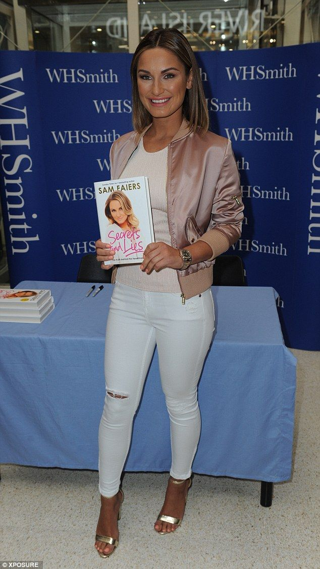 Looking good: Sam Faiers was out in force on Saturday afternoon to promote her brand new, tell-all memoir: Secrets and Lies