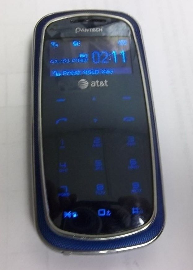 Pantech Impact P7000 For Att Blue Cellular Phone Cell Phones For