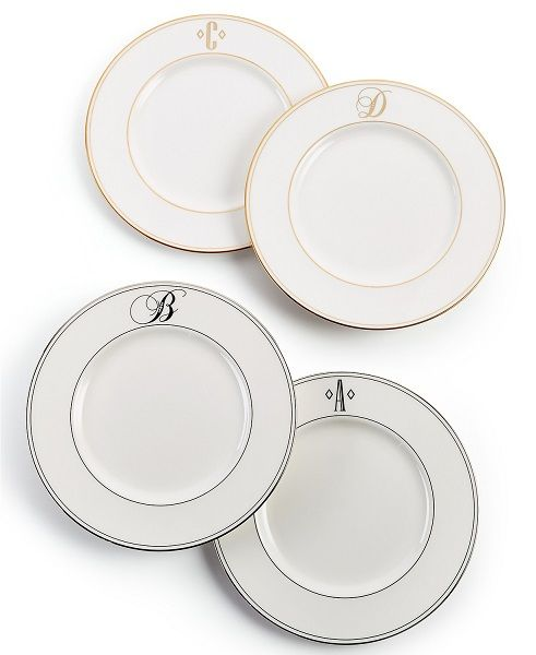 Macyu0027s Top Registry Gifts | Lenox Monogram Accent Plates  sc 1 st  Pinterest & Macyu0027s Top Selling Wedding Registry Gifts | Macyu0027s Wedding Registry ...