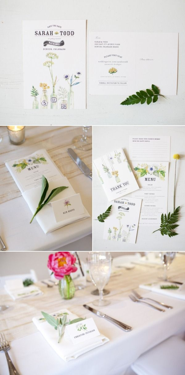 Lana's shop -botanical invitations and styling
