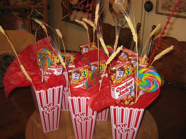 Circus Decorations | ... party carnival circus themed we used popcorn plastic containers filled