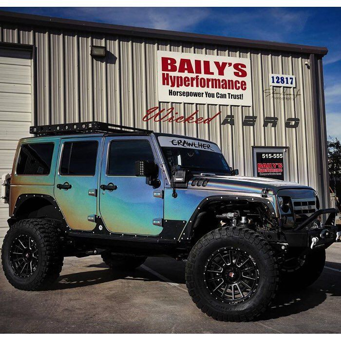 Check Out The Jeep Wrangler Wrapped In 3m Colorflip Psychedelic