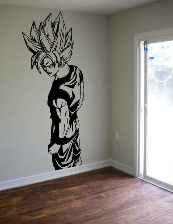 Dragon ball z goku wall decal sticker vinyl decor kids for Boys wall mural