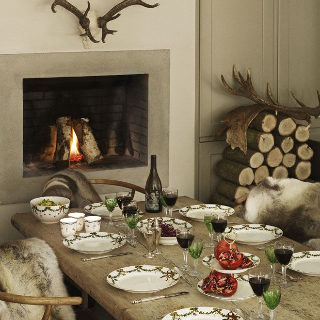 Star Fluted Christmas table setting in the 2012 Royal Copenhagen Catalogue