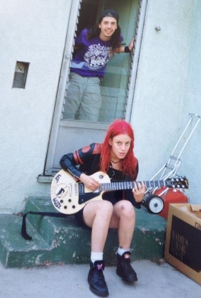 Jennifer Finch and Dave Grohl