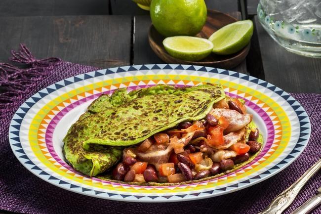 Avokadopannekaker med baconbønner - en ny suksessoppskrift i heftig, grønn avokadodrakt.