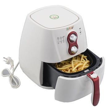Deep fryer air cooker tools patatos fryers machine red free oil and smoke chips cooking hot Christmas gift Household kitchen