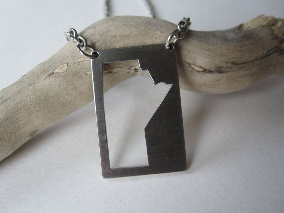 Manitoba Necklace  stainless steel by Eighty8Eighty9 on Etsy