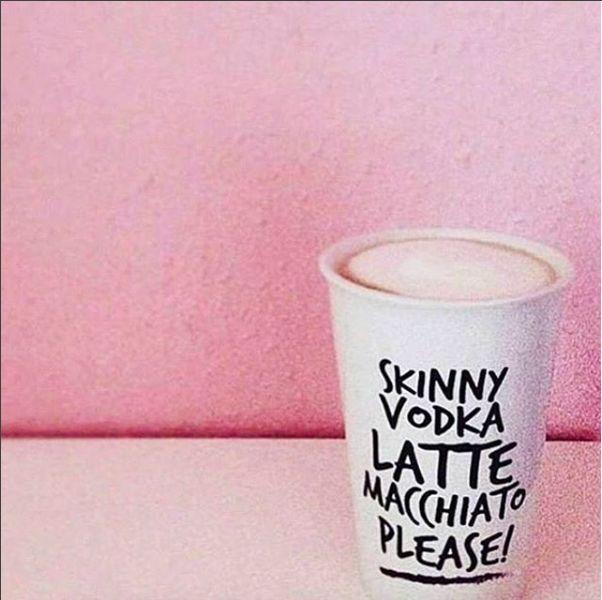 The Gift Label: Skinny vodka latte yes please  repost @beauty.revealed.story #almostweekend #skinnyvodkalatte #tea #coffee #togo #thegiftlabel #tgl #Pinterest #Pinteresttips #SocialMedia #Pink #Perfect #Cream #Please #Perfect #Day #Gift #Amsterdam