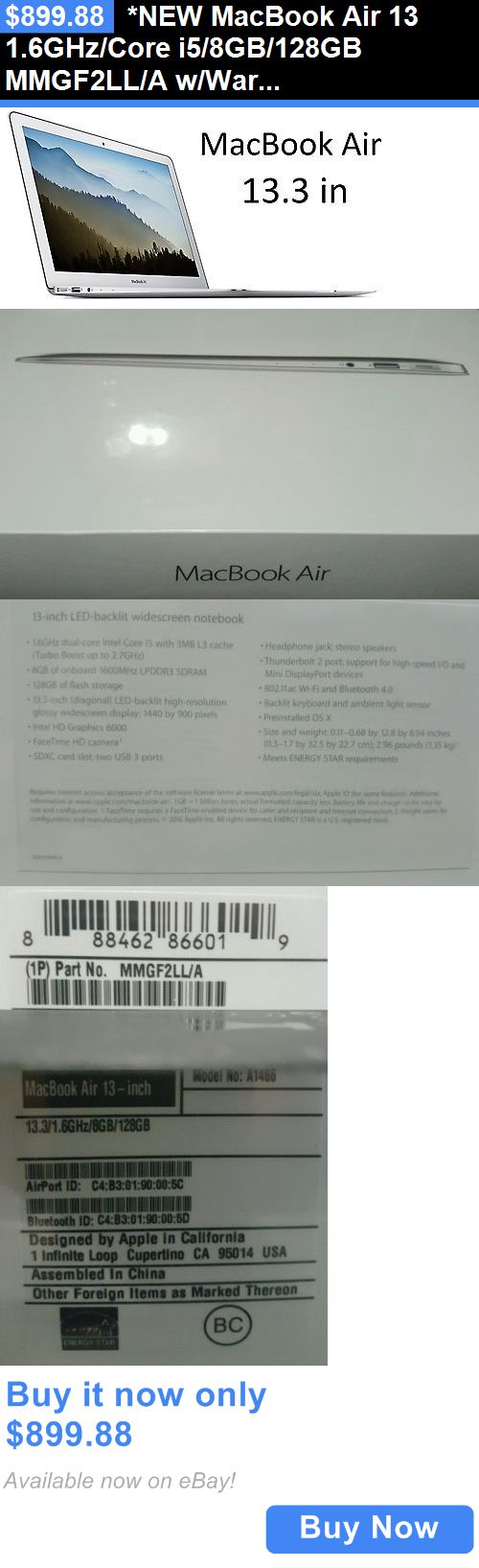 general for sale: *New Macbook Air 13 1.6Ghz/Core I5/8Gb/128Gb Mmgf2ll/A W/Warranty + Office365! BUY IT NOW ONLY: $899.88