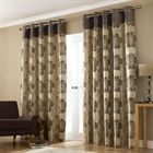 Lana Brown Lined Curtains